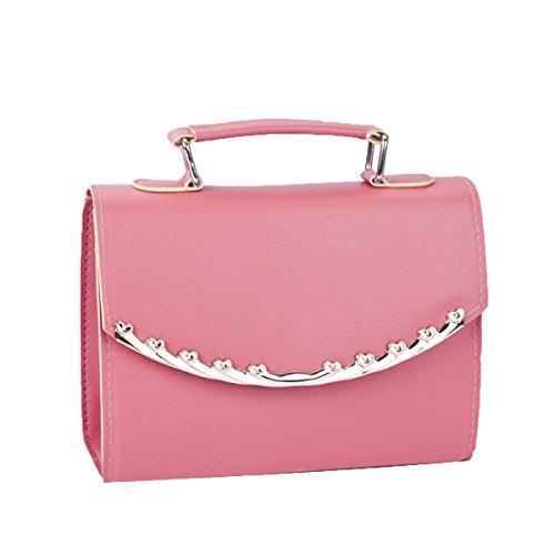 Damen Handtaschen Damen Wasserdichte Umhängetasche Taschen Mehrfarbig Pink