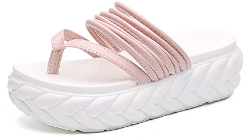 Zapatillas De Suela Gruesa Hembra Verano Nueva Moda Desgaste Sandalias De Punta A Punta Sandalias Y Zapatillas...