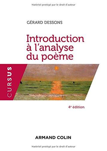 Introduction  l'analyse du pome - 4e d.