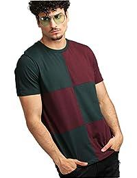 AELOMART Men's Regular Fit Cotton T Shirt-(AMT1272-P_Green)