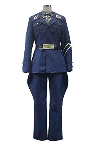 Axis Powers Hetalia Preußen Uniform Cosplay Kostüm Herren (Kostüme Cosplay Hetalia)