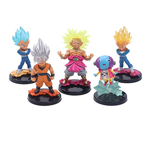 5 Teile/Satz Anime Dragon Ball z Goku Vegeta Broly Gold super Saiya Nette Big Head Gott Action Figure DBZ PVC Modell Spielzeug 10 cm
