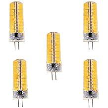 7W G4 Bombillas LED de Mazorca T 80 SMD 5730 500-700 lm Blanco Cálido / Blanco Fresco Regulable / Decorativa V 5 piezas ( Color de Luz : Blanco Cálido , Voltaje : 220v )