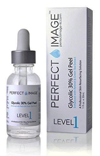 Perfect Image - Peeling gel con 30% ácido glicólico - enriquecido con retinol y extracto de té verde (peeling químico profesional)