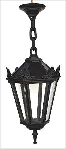 Graf von Gerlitzen Antik Style Alte Form Aluminium Hängelampe Lampe Garten Laterne Schwarz