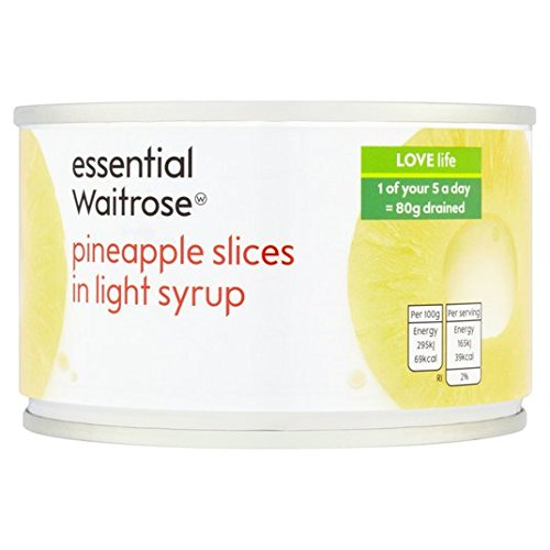 Ananas tranches au sirop essentiel 227g Waitrose