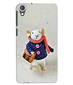 Citydreamz White Mouse/Rat/Cute Cartoon/Winters/Snowfall Hard Polycarbonate Designer Back Case Cover For HTC Desire 626G Plus/ HTC Desire 626 (4G) LTE