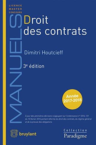 Droit des contrats par Dimitri Houtcieff
