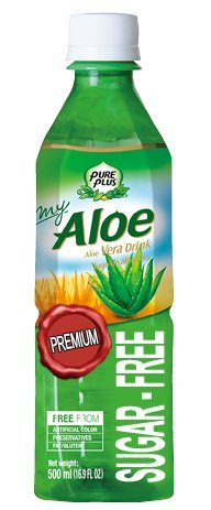 Pure Plus Getränk mit Aloe Vera sugar-free 500ml x 20Stück (Aloe Vera Granatapfel-saft)