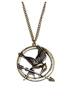 The Hunger Games Mocking Jay Halskette in Antik Bronze Detaillierte Radierungen auf Mockingjay - Schmuck Die Tribute von Panem Medaillon Spotttölpel