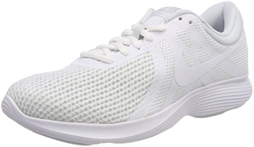 Nike Revolution 4 Eu-aj3490, Zapatillas de Running para Hombre, Blanco White-Pure Platinum 100, 42 EU