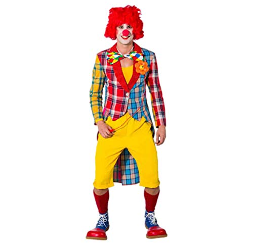 Orlob Party Discount ® Herren-Kostüm Frack Patchwork Clown, Gr. 52-54