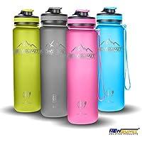 NEWSUMIT Botella De Agua Shaker Deportiva Superior - BPA Free Tritan - Todo Uso (Rosa