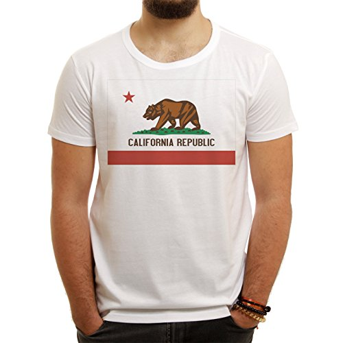 California Logo Republic Small Uomini T-Shirt