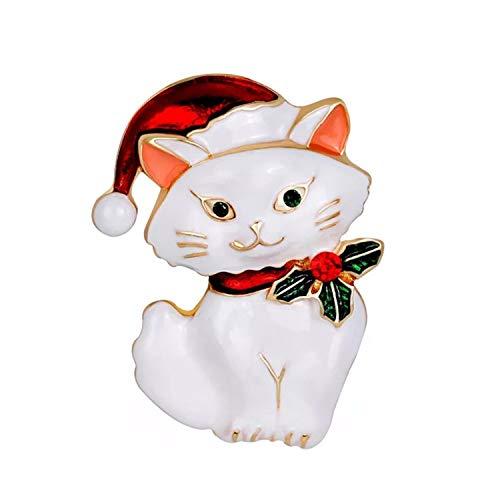 Mondora Party Brosche Pin Cute Cat Dame's Emaille Österreichischen Kristall Gold-Ton - Cute Mutter Und Tochter Kostüm