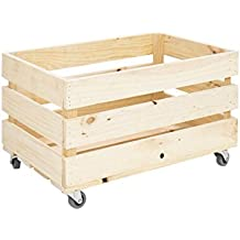 Cajas de madera con ruedas - Caja madera con ruedas ...