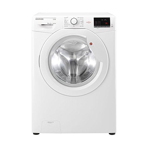 Hoover DHL14102D3 White Washing Machine with 10kg capacity, Up to 1400rpm Spin, A+++ Energy Rating, KG Mode and One Touch and NFC Technology