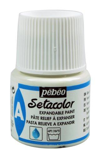Este Auxiliar Setacolor (pasta relieve a expanser), ha sido especialmente diseñado para utilizar con la gama de pintura Setacolor de Pébéo (pintura textil)