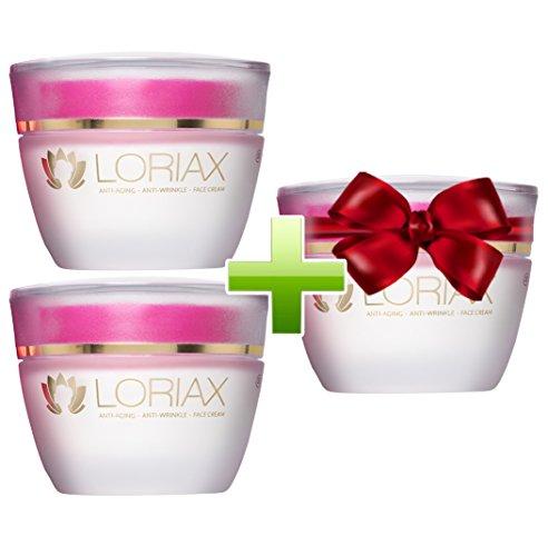 Loriax - Anti-Aging-Creme und Anti-Falten-Mittel | Kaufe 2 Dosen und erhalte 1 gratis dazu (3 Flaschen)