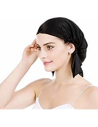 Emmet Gorro de Dormir Mujer 100% Pura Seda Sombrero para Dormir elástico  Hace Que tu Cabello se Sienta Sedoso… f24fa023529