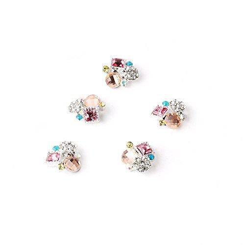 5Pcs Cube Cristal Nail Art Décoré Ongle Multicolore Par RAIN QUEEN