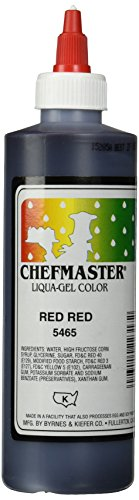 Chefmaster Liqua-Gel Food Color, 10.5-Ounce, Red by Chef-Master