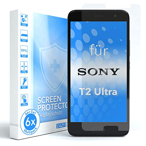 EAZY CASE 6X Bildschirmschutzfolie für Sony Xperia T2-Ultra, nur 0,05 mm dick I Bildschirmschutz, Schutzfolie, Bildschirmfolie, Transparent/Kristallklar
