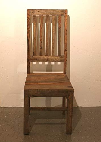 MASSIVMOEBEL24.DE Nature Grey Stuhl #750 Sheesham/Palisander Möbel Massivholz vollmassiv B/T/H - 45x46x109
