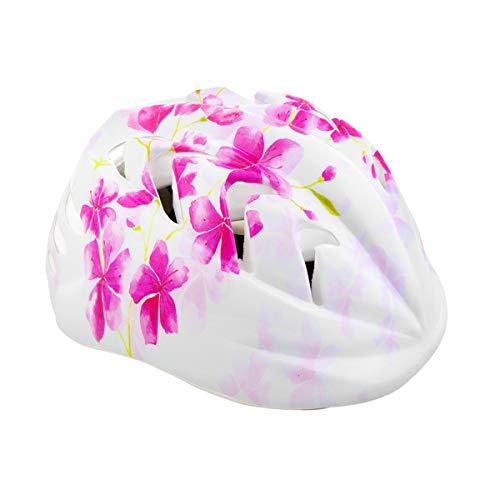 Spokey Fahrradhelm Kinder Radhelm verstellbare Größe   Kopfumfang 44-48/49-56   Verschiedene Farbversionen (Cherry, 44-48)