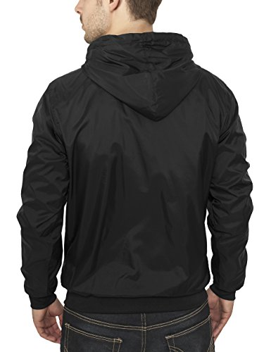Urban Classics TB148 Giacca Windrunner antivento Arrow Uomo Multicolore (Black/White)