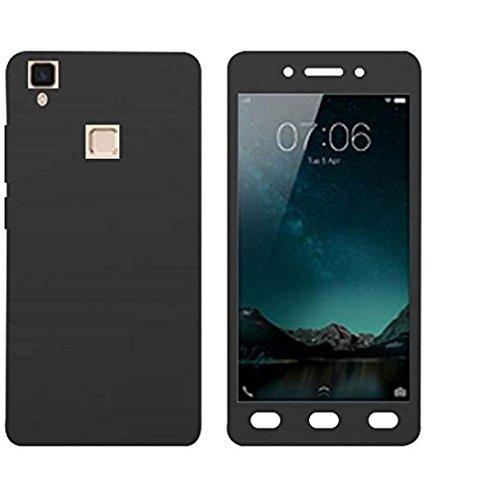 DeV Front & Back 360 Degree Ipaky-Full Body Protection (Front+ Back + Temper Glass) Case Cover for Vivo V3