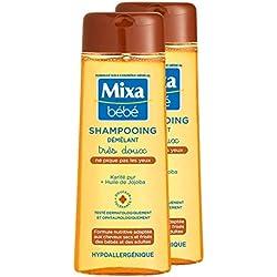 Mixa Bébé - Shampoing Karité Démêlant Très Doux - Lot de 2