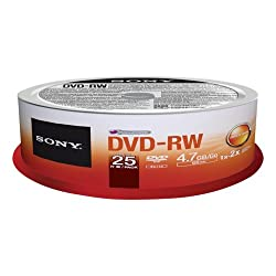 Sony 25dmw47sp - Dvd-rw (Rewr.) 4x Spindle 25pcs - .