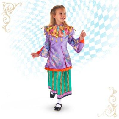 Kostüm Little Mermaid Sebastian - Alice Deluxe Kostüm für Kinder, Alice durch den Spiegel, Kinder 2 Stück Kostüm, Größe 9 - 10 Jahre