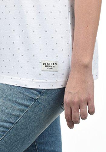 DESIRES Starlet Damen T-Shirt Kurzarm Shirt mit Print und Rundhalsausschnitt Aus 100% Baumwolle, Größe:XS, Farbe:Light Grey (2325) - 6