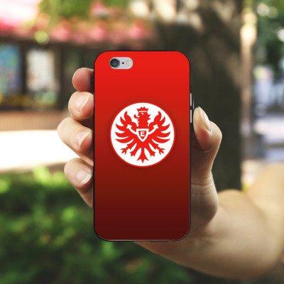 Apple iPhone X Silikon Hülle Case Schutzhülle Eintracht Frankfurt Fanartikel Fussball Silikon Case schwarz / weiß