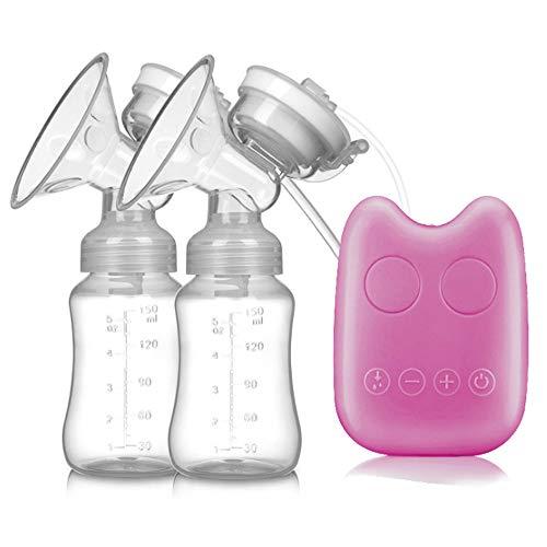 Tire-lait Stockage de lait maternel de double tire-lait électrique Nourrir le pompage de sein (Couleur : Pink)