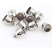SODIAL(R) 10X Cierre Abalorios Metal Forma Copa Color Plata para Joyas