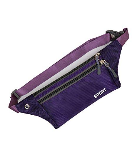 Multifunktionale Outdoor Fitness Sporttaschen Mehrfarbig Purple