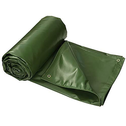 Telone tela cerata industriale poliestere filato + pvc panno pioggia spessa protezione solare parasole cerata tela cerata tela esterna (verde) (dimensioni : 2m×3m)