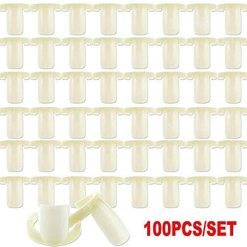 100 STÜCKE Nagellack Display Pop Sticks Stehen Praxis UV Gelpoliermittel Tipps Karte Buch Ring Bord Salon Clip Auf Diagramm Werkzeug (Nagellack Der Praxis)