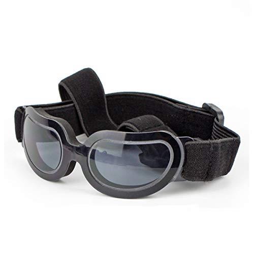 PETCUTE Hund Brille Sonnenbrille wasserdichte leichte UV-Schutz Sonnenbrille für kleine mittlere Hund oder Katze Schwarz