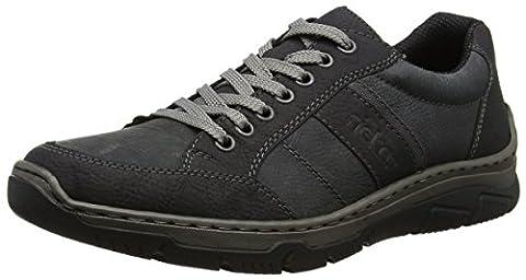 Rieker Herren 16921 Sneaker, Schwarz (Schwarz/Coal), 42 EU