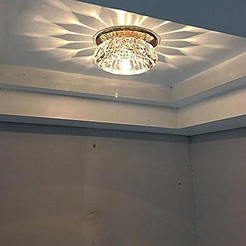 Moderne Design créatif Verre Montage Encastré Plafonnier Couloir Cristal Plafonnier Abat-jour Éclairage Lampes de plafond ,1 Ampoule G4