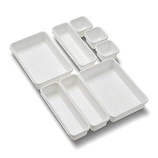 madesmart Interlocking 8 Bin Pack, White