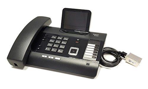 Gigaset DL500A modifiziert - mit DHSG/EHS Headsetschnittstelle - Kompatibel mit Plantronics, Jabra, Sennheiser (Schnurgebundenes Schnurloses Telefon Headset)