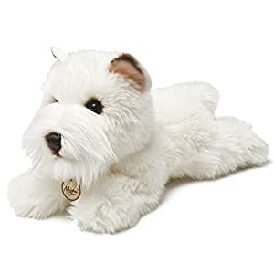 Miyoni - Perro Westie de Peluche, 21 cm, Color Blanco (Aurora World 13127)