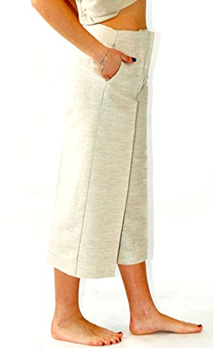 D-ROSS, Pantaloni Donna Beige (Sabbia)
