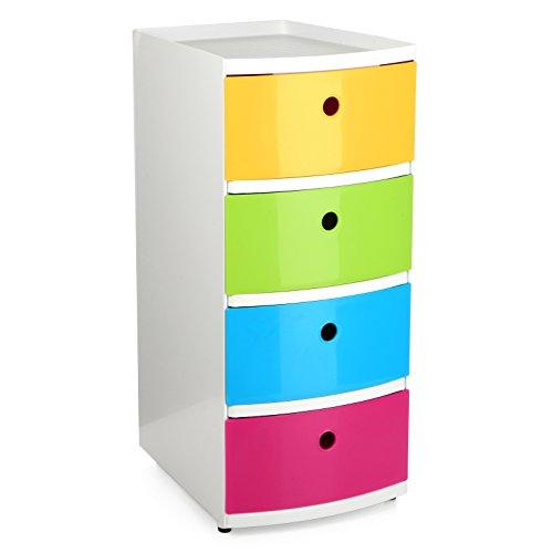 Tatay Torre de Ordenación Kids - Torre con 4 Cajones Tamaño Din-A4