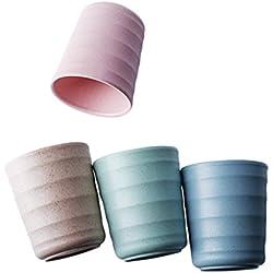 Tazas de bambú de 4 colores de 200ml